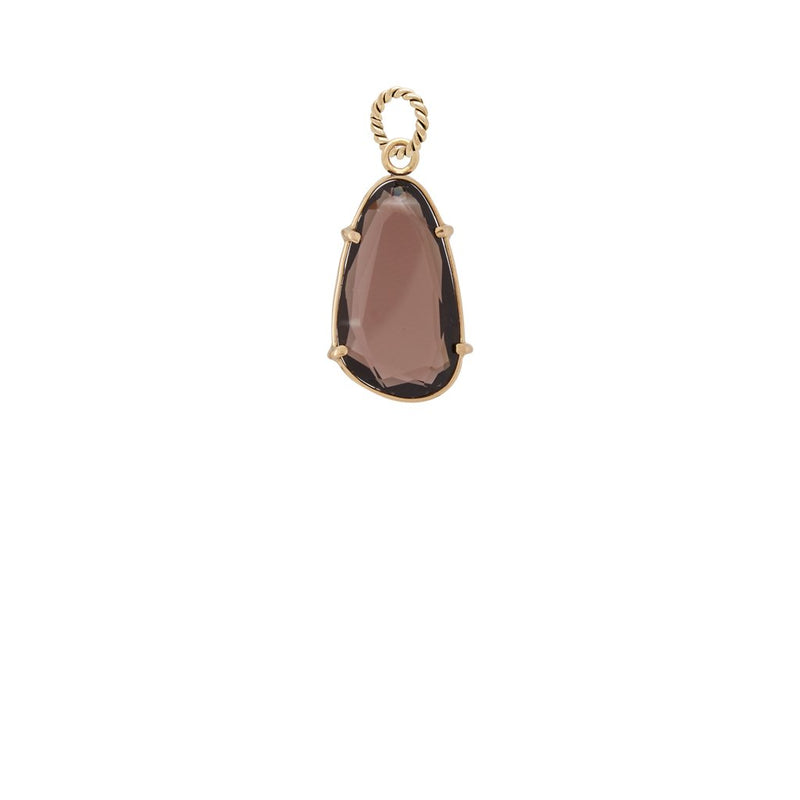 Smokey Quartz Faceted Charm