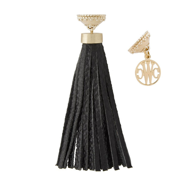 Baja Black Leather Tassel