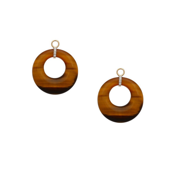 Mini Deco Tiger's Eye Earring Drops