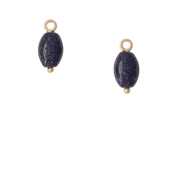 Lapis Oval Earring Drops
