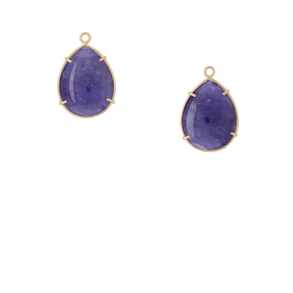 18K Tanzanite Earring Drops