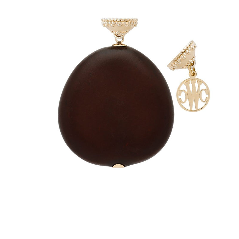 Brown Tagua Nut Tag