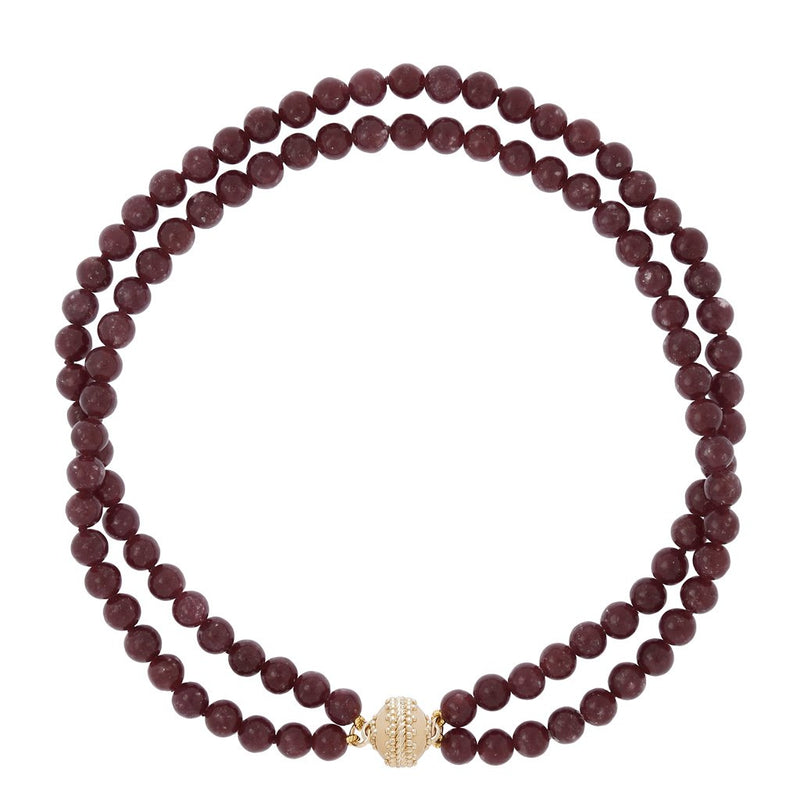 Victoire Lepidolite 10mm Necklace