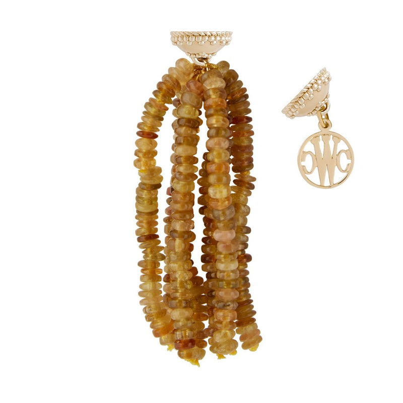 Yellow Tourmaline Rhondelle 5mm Tassel