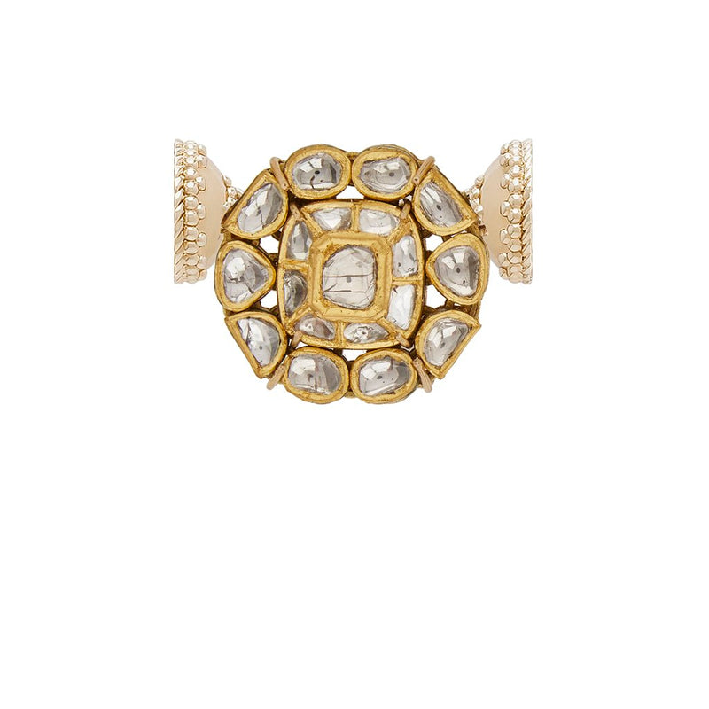 18k Polki Gold Diamond Centerpiece with Signature Magnetic Clasp