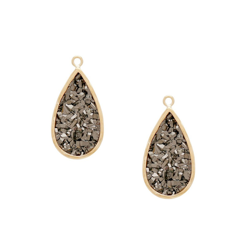 18K Large Vaporized Druzy Earring Drops