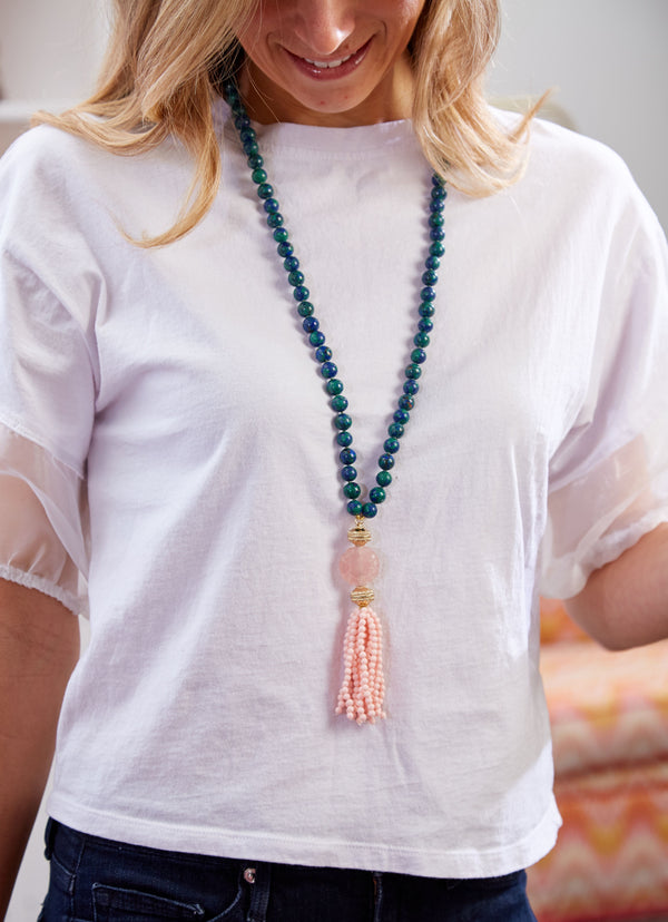 Victoire Pink Coral 4mm Tassel