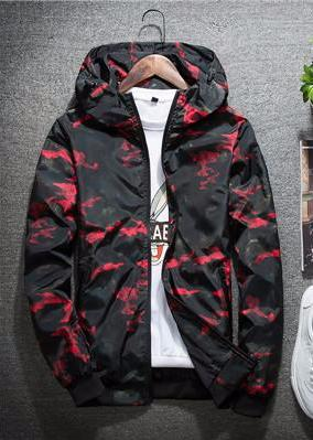 Red Camouflage Wind Breaker