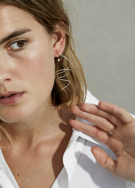 Large Spiral Earring · Opal - Trine Tuxen Jewelry