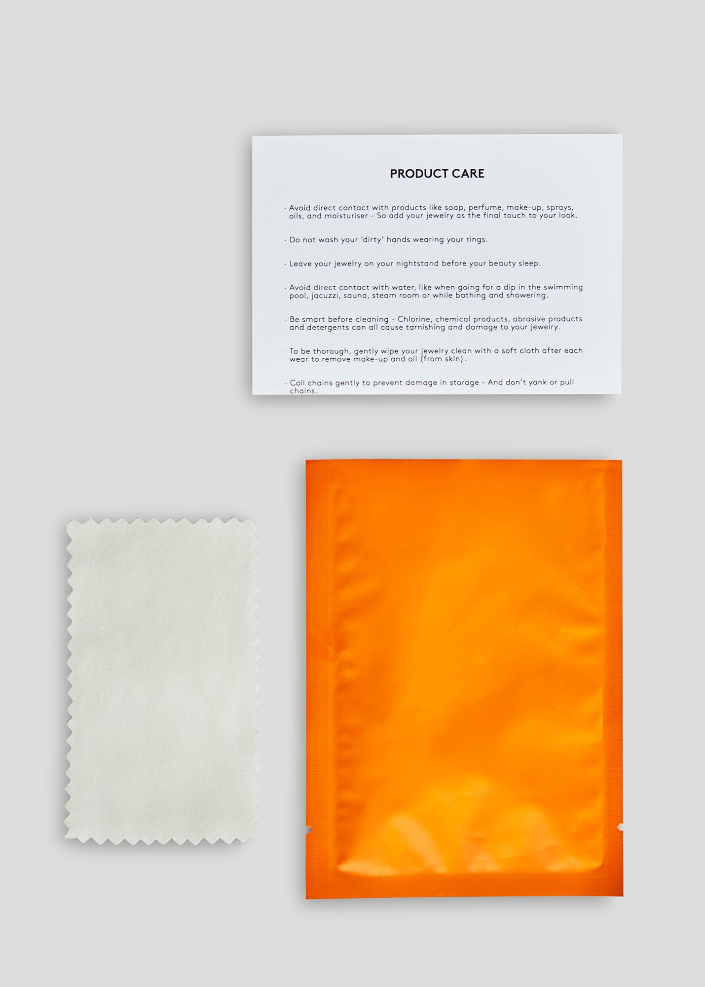 Polishing Cloth & Product Care Guide