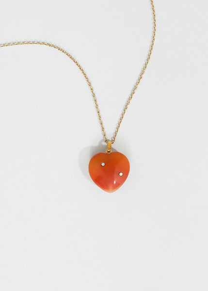 Carnelian Heart + Diamond II