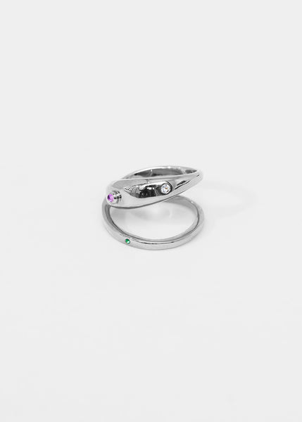Loop Ring · Amethyst · Aquamarine · Emerald