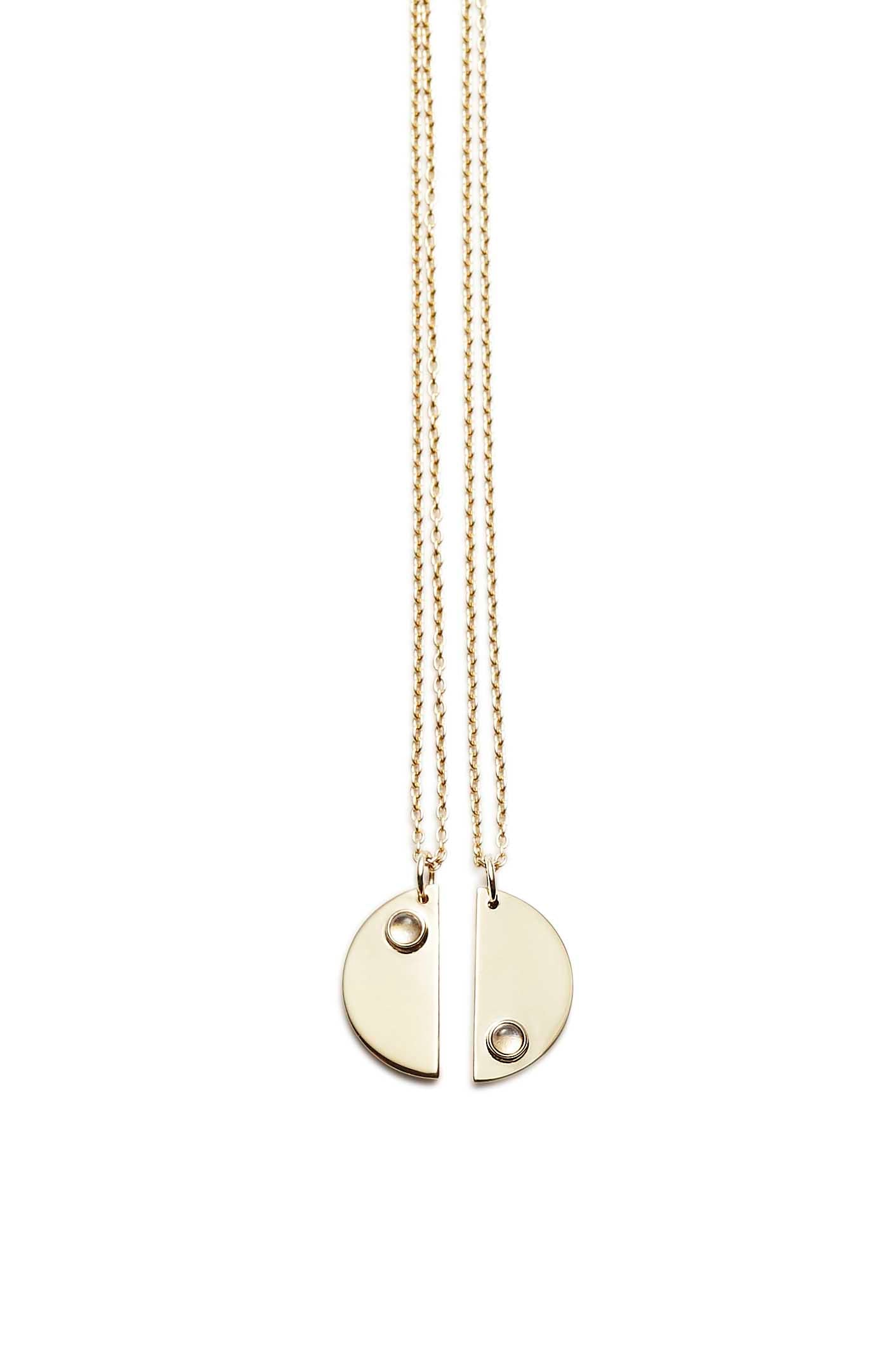 Double Moon Necklaces · Gold plated - Trine Tuxen Jewelry