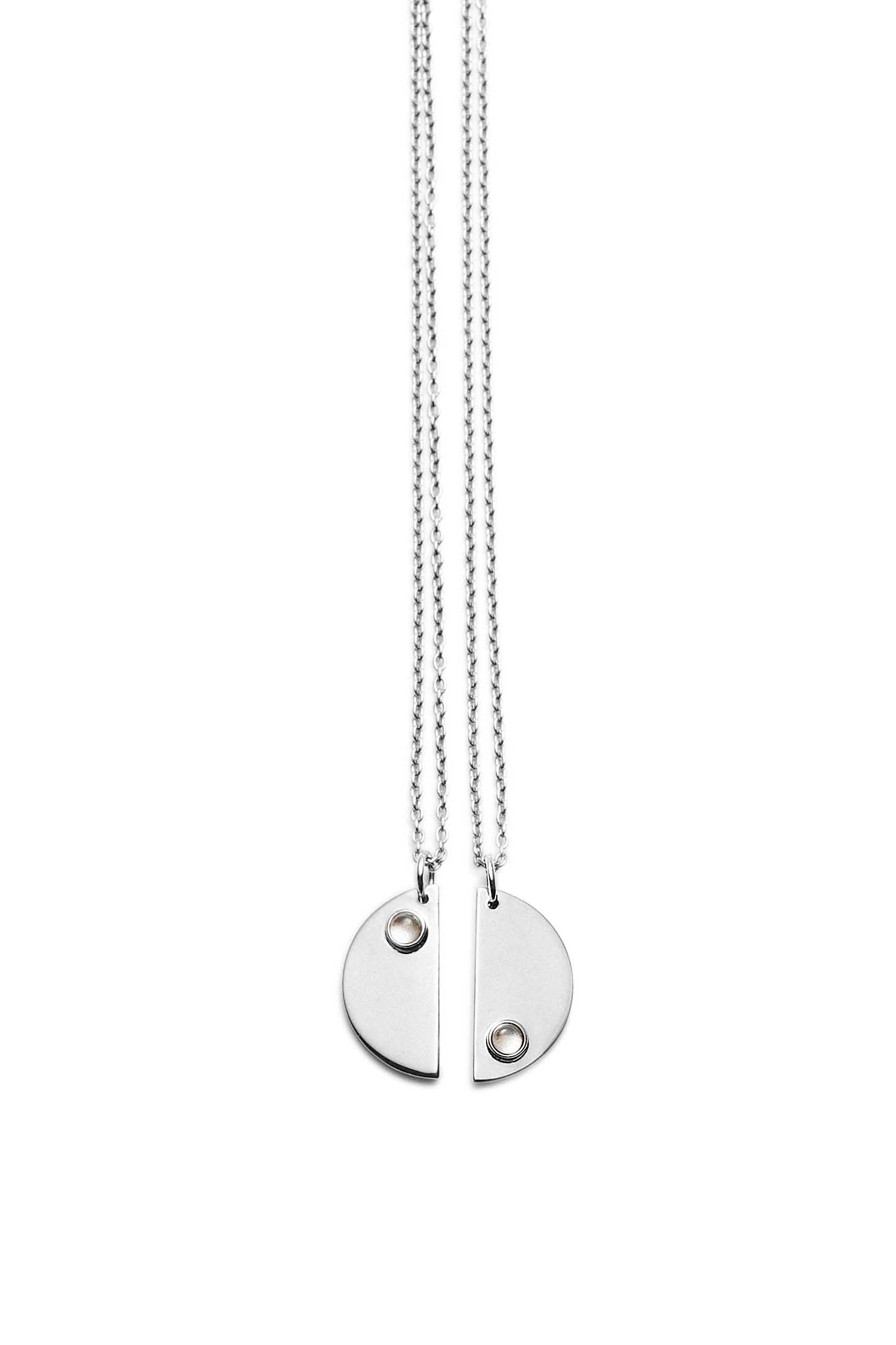 Double Moon Necklaces · Silver - Trine Tuxen Jewelry