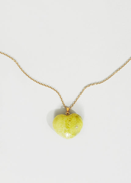 Yellow Jasper Heart + Diamond