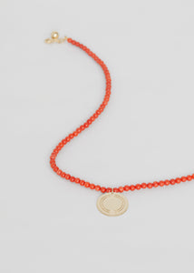 Logo Coral Necklace