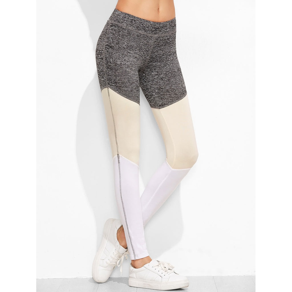 Color Block Multicolor Leggings