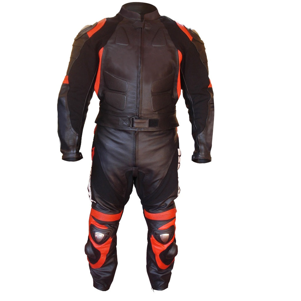 Black Biker Racing Leather Jacket