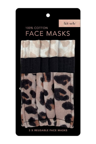 Cotton Masks - 3pc Set