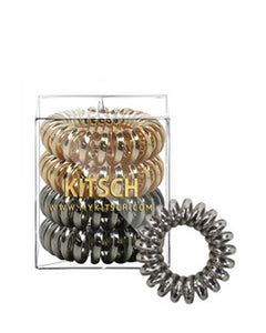 4 Pack Hair Coils - Metallic