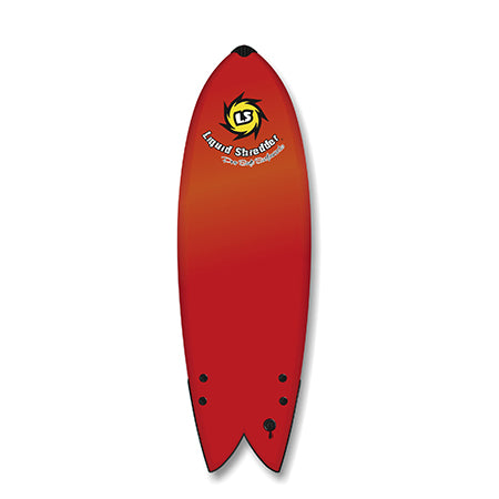 "Liquid Shredder 5' 8"" Fish Twin Fin Element Soft Surfboard - 3 Color Choices"