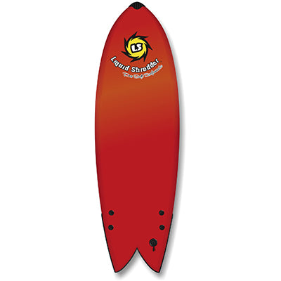 "Liquid Shredder 6' 4"" Fish Twin-Fin Element Soft Surfboard - 3 Color Choices"