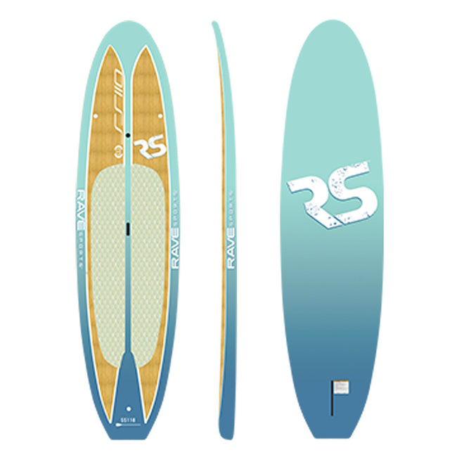 "Rave Sports 10' 9"" Caribbean Blue Shoreline SUP"