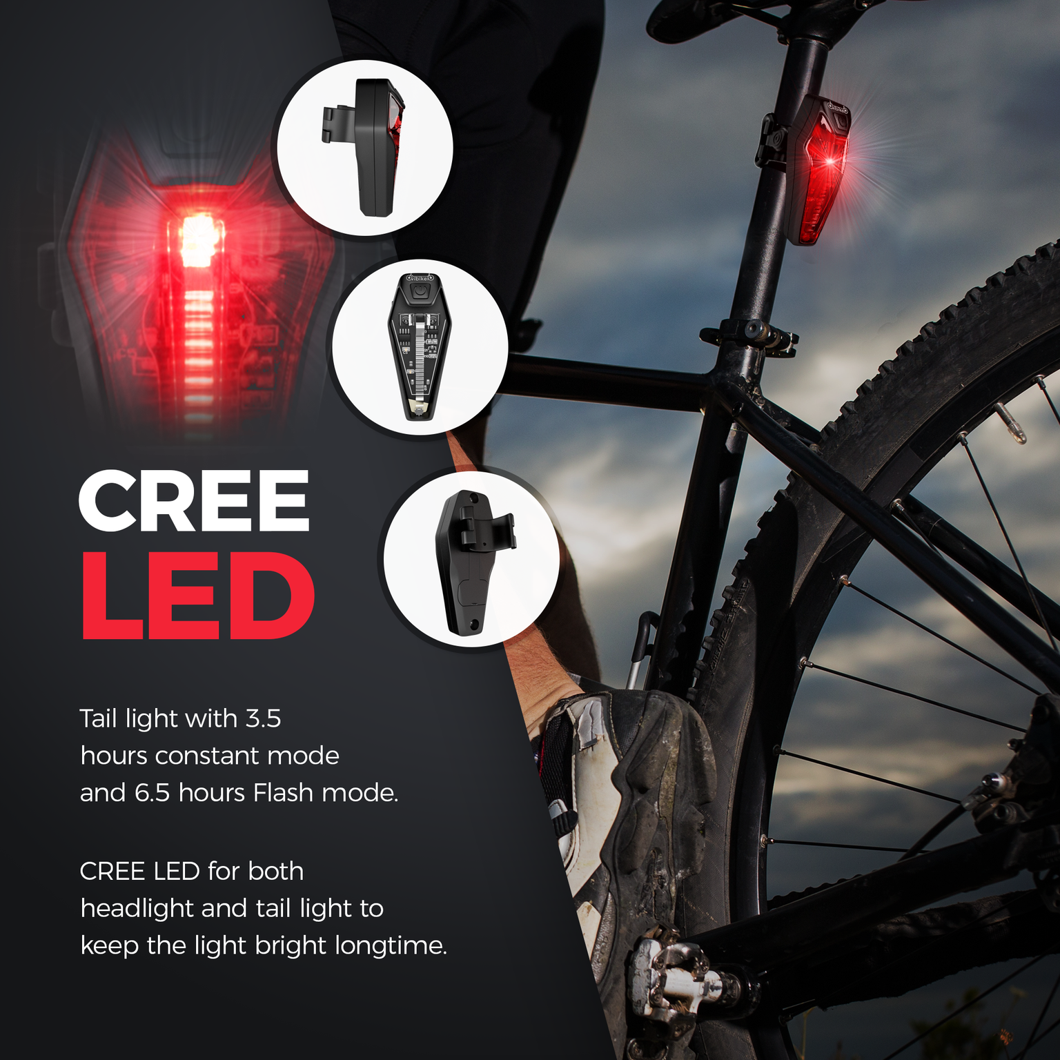 complete lighting with amzn lights sealed x cree ver powered products lumen main set bike rear intensity high image led abs light polymer battery