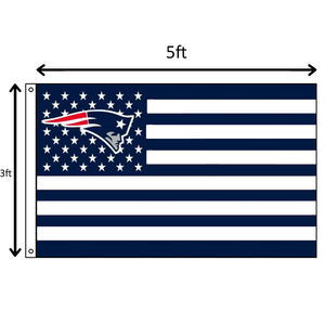 Navy Blue Stars and Stripes Patriots Flag
