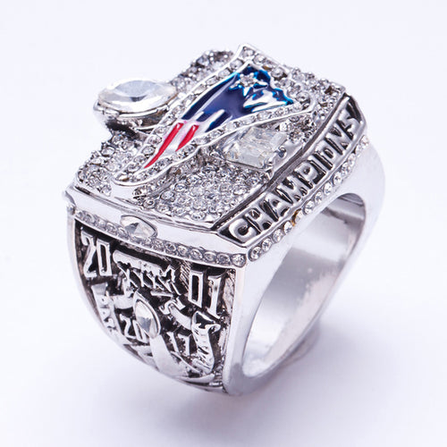 Silver Plated 2001/2017 Patriots Ring