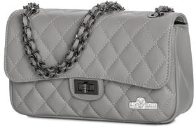 4dc31f4285 LiaTalia Genuine Italian Quilted Leather Evening Clutch Bag with - Carol