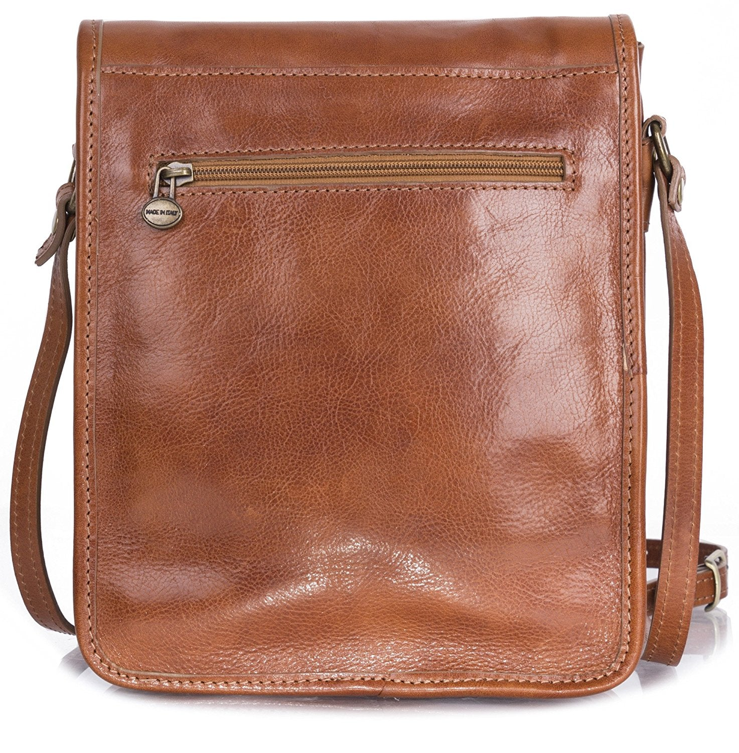 ddd453b671 Cavallo Scuro Mens Genuine Leather Italy Cross Body Briefcase Office  Shoulder Bag