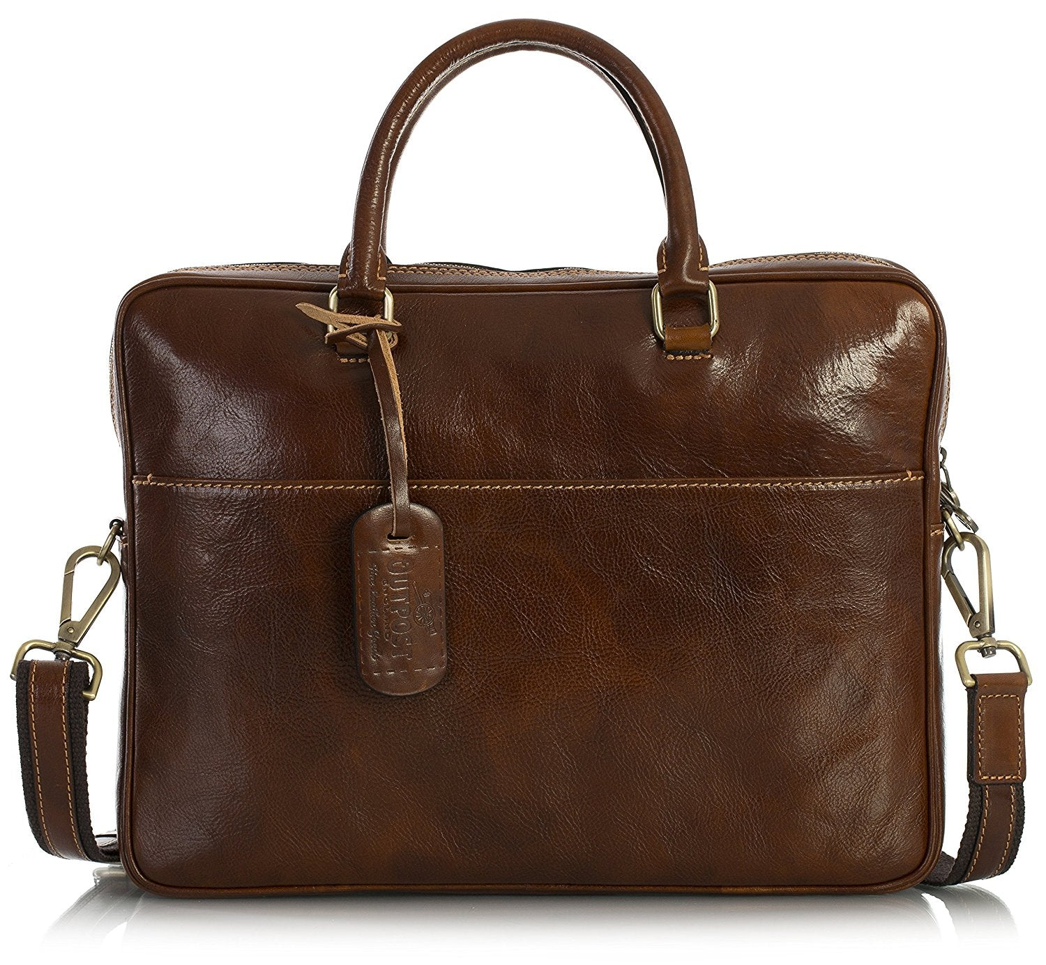 fdb8d73cbe ... Outpost mens genuine leather top handle messenger shoulder cross body  briefcase work bag jpg 1500x1385 Leather ...