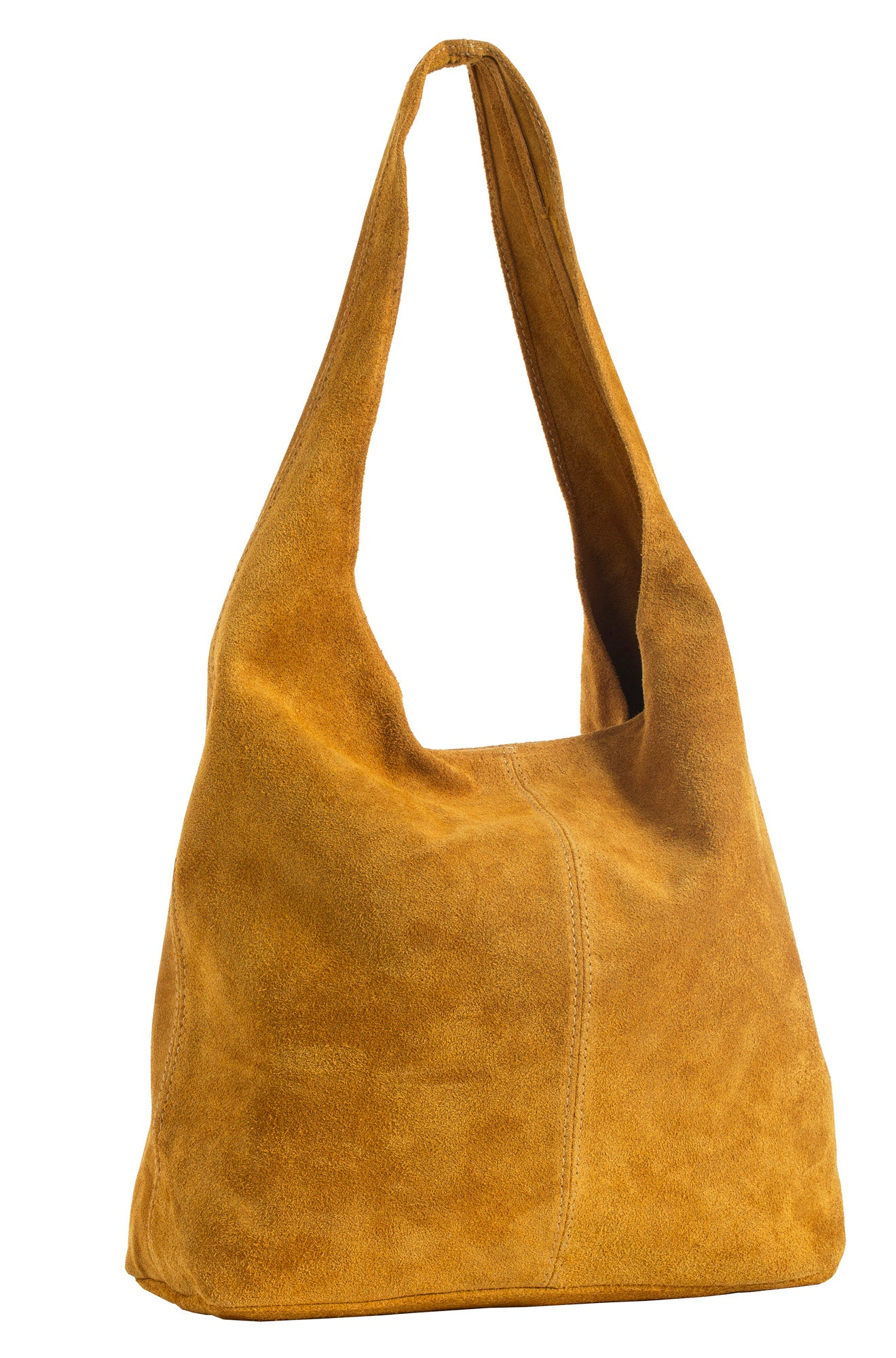 e312d6993515 LiaTalia Large Real Italian Suede Leather Single Shoulder Strap Hobo Slouch  Bag - Shay