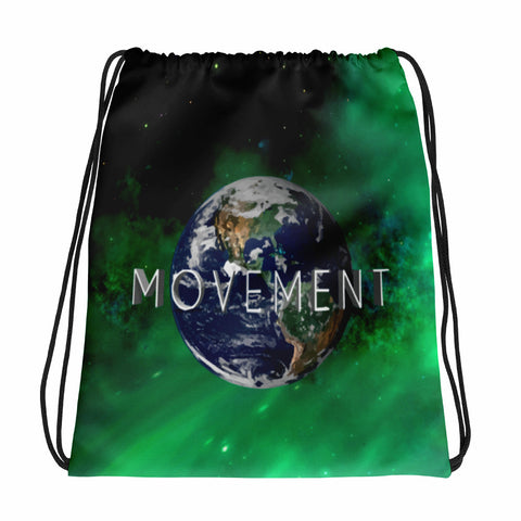 World Drawstring bag