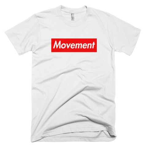 Movement red box t-shirt