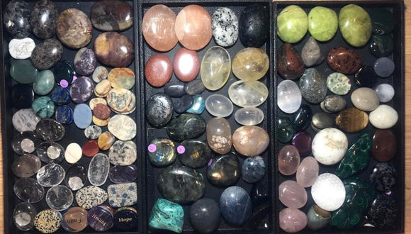 Crystal Worry Stones and Palm stones