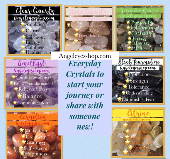 Crystal Tumbles and pocket stones