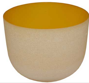 "Yellow 8"" singing bowl"