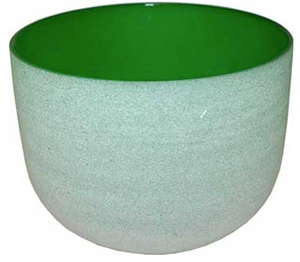 "8"" green chakra Crystal singing bowl - Angel Eye Spiritual Shop"