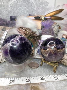 Chevron amethyst spheres - Angel Eyes Shop