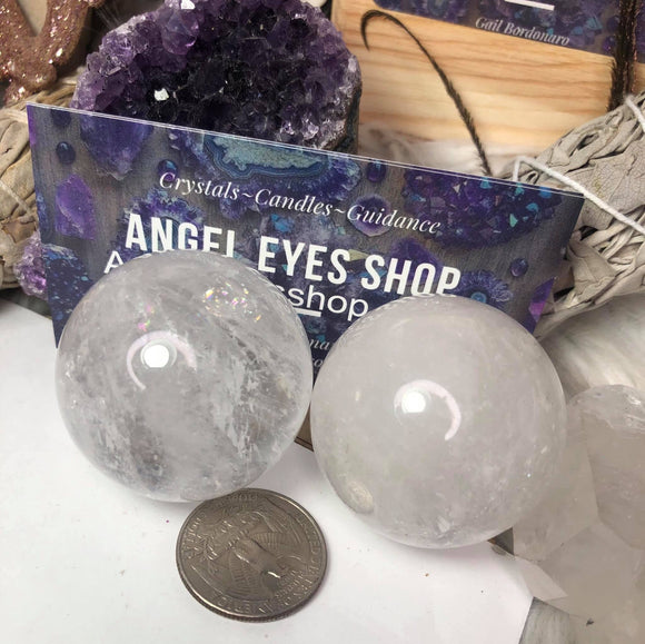 Clear Quartz Sphere - Angel Eyes Shop