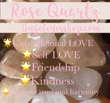 Rose Quartz Tumble pocket stone - Angel Eyes Shop