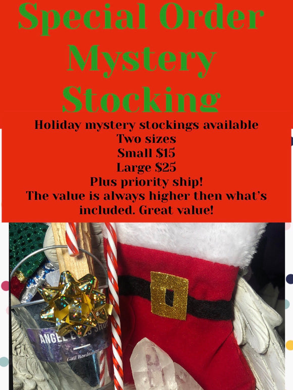 Crystal holiday mystery stocking - Angel Eyes Shop