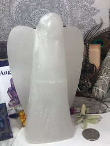 "Selenite Large 7"" tall Angel - Angel Eyes Shop"