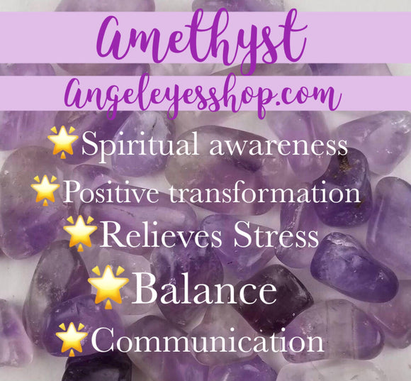 Amethyst tumble - Angel Eye Spiritual Shop