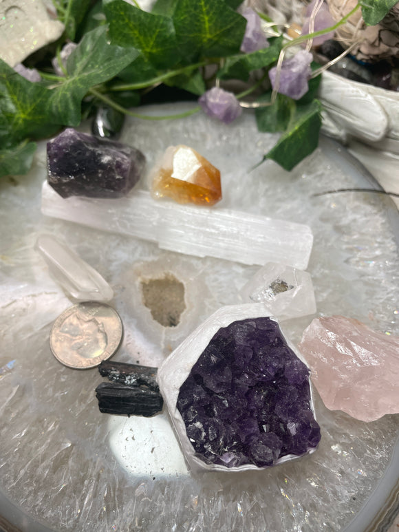 Amethyst or Quartz worry stone - Angel Eyes Shop