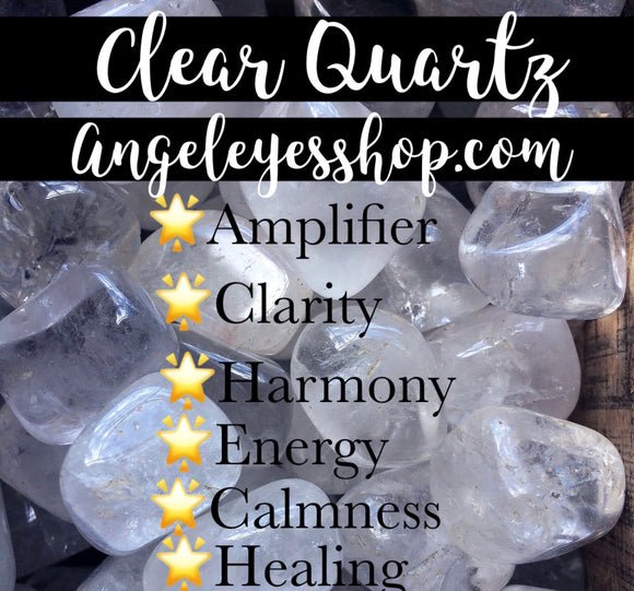 Clear Quartz Tumble - Angel Eyes Shop