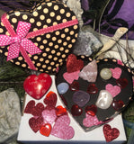 Valentines Day Gemstone filled Heart boxes - Angel Eyes Shop