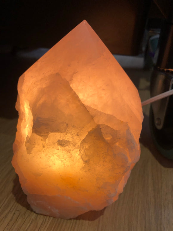 Rose quartz large lamp top polished - Angel Eyes Shop